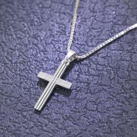 trendor 79084 Silver Kids Necklace with Cross