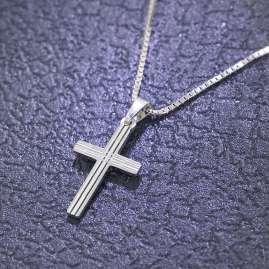 trendor 79084 Silber Kinder-Halskette mit Kreuzchen