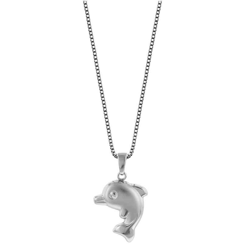 trendor 79619 Delfin-Anhänger mit Halskette 925 Silber 4260333979619