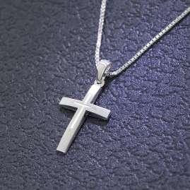 trendor 79602 Silber-Kreuz mit Kinder-Halskette