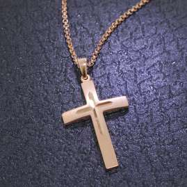 trendor 79510 Silver Cross Pendant Mens Necklace
