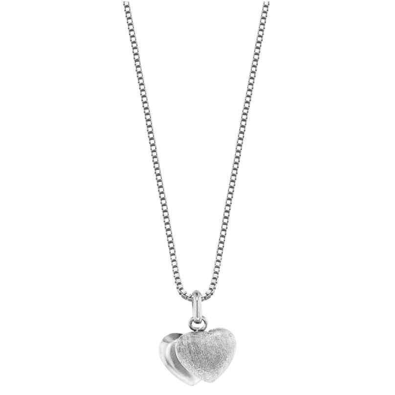 trendor 35905 Silberkette mit Herz-Anhänger 4260435359050
