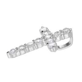 trendor 35907 Silver Necklace with Zirconia Cross