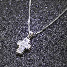 trendor 35908 Necklace with Cross Pendant Silver 925
