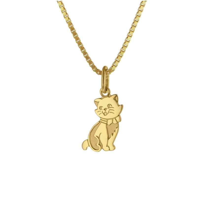 trendor 35919 Katzen-Anhänger Gold 333 4260435359197