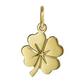trendor 35922 Lucky Clover Pendant Gold 8 ct + Gold-Plated Silver Necklace
