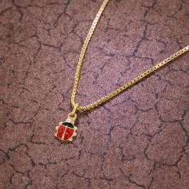 trendor 35925 Ladybeetle Pendant Gold 333