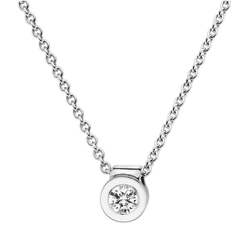 trendor 532519 Diamant-Anhänger 0,15 mit Halskette Weißgold 585/14K 4006025325193