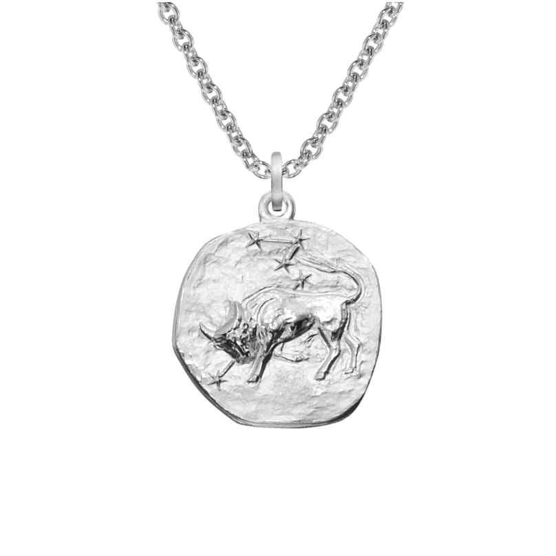trendor 08445 Sternzeichen Stier mit Halskette Silber 925