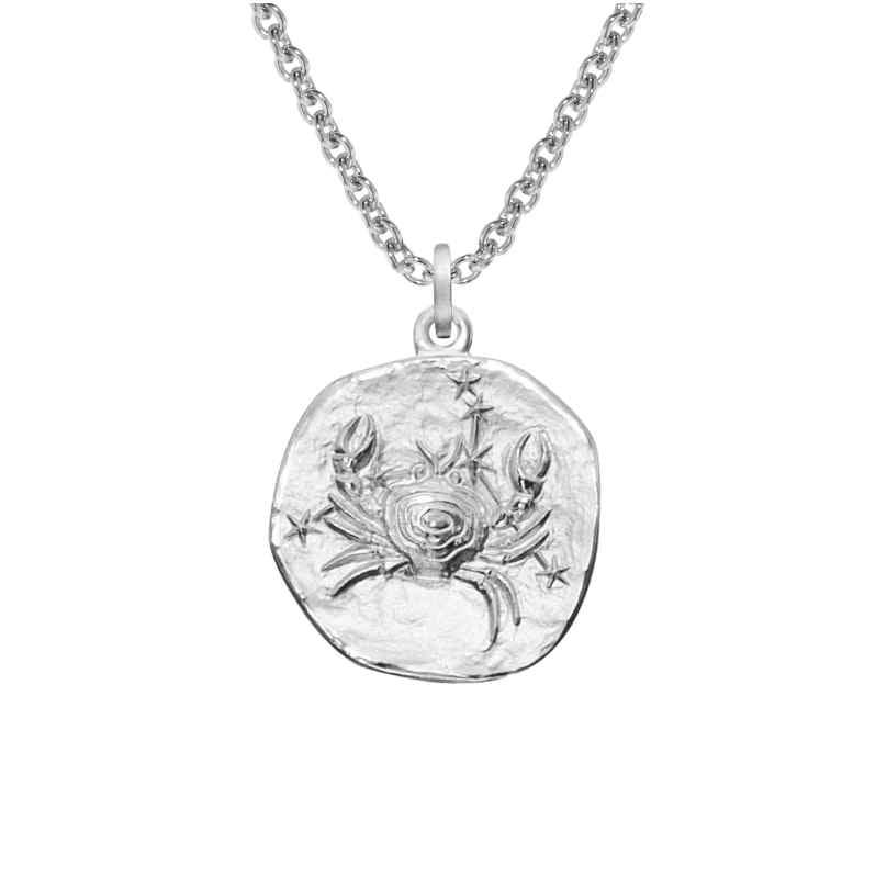 trendor 08447 Sternzeichen Krebs mit Halskette Silber 925