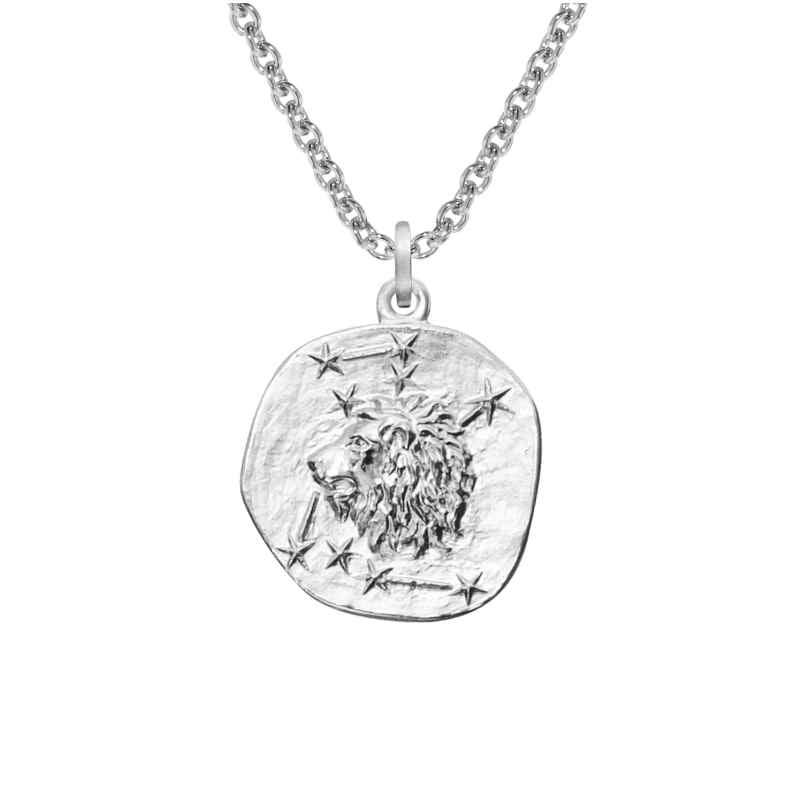 trendor 08448 Silver Zodiac Leo with Necklace