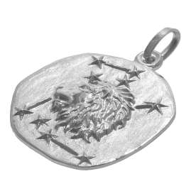 trendor 08448 Silver Zodiac Leo with Necklace