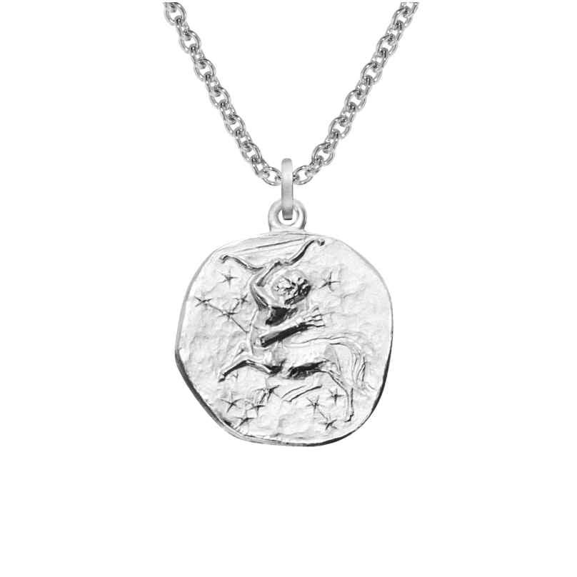 trendor 08452 Silver Zodiac Sagittarius with Necklace