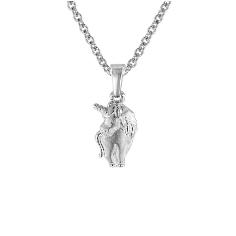 trendor 08466 Einhorn-Anhänger mit Halskette für Mädchen 925 Silber 4260497084662