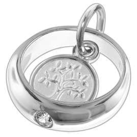 trendor 08468 Silver Kids Necklace Christening Ring Pendant Arbor Vitae