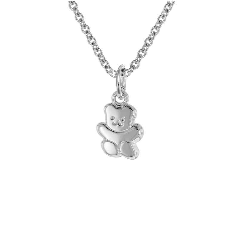 trendor 08471 Silver Teddy Pendant Childrens Necklace 4260497084716