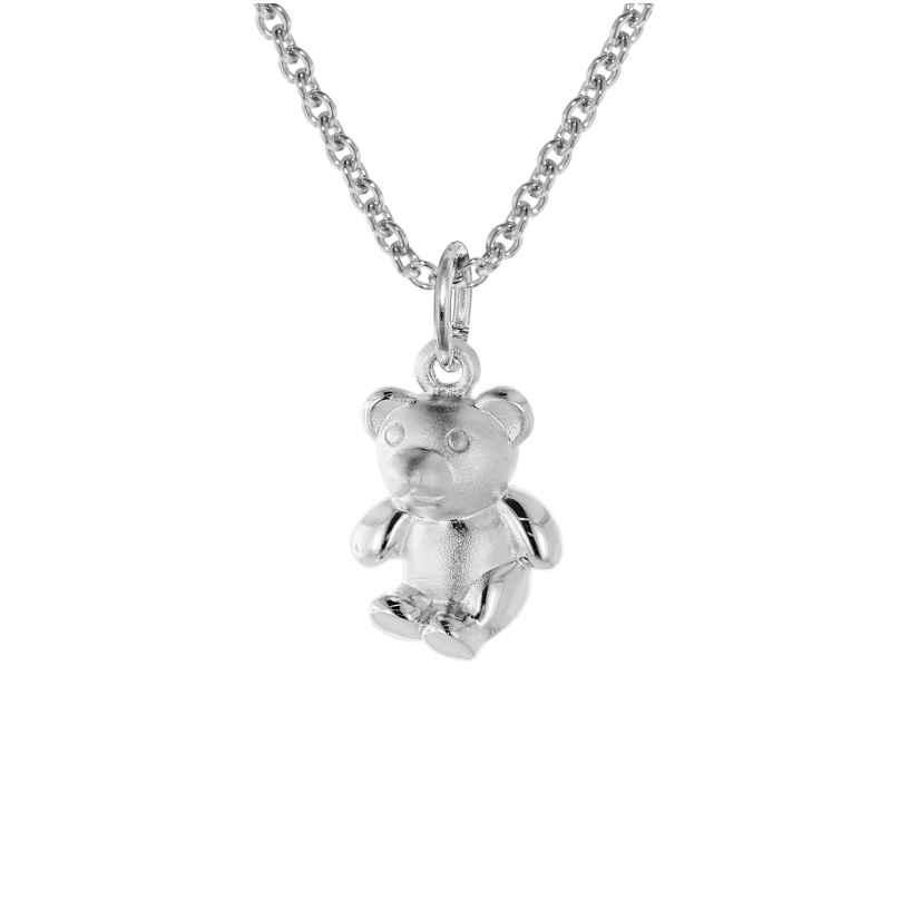 trendor 08472 Teddybär-Anhänger mit Kinder-Halskette 925 Silber 4260497084723