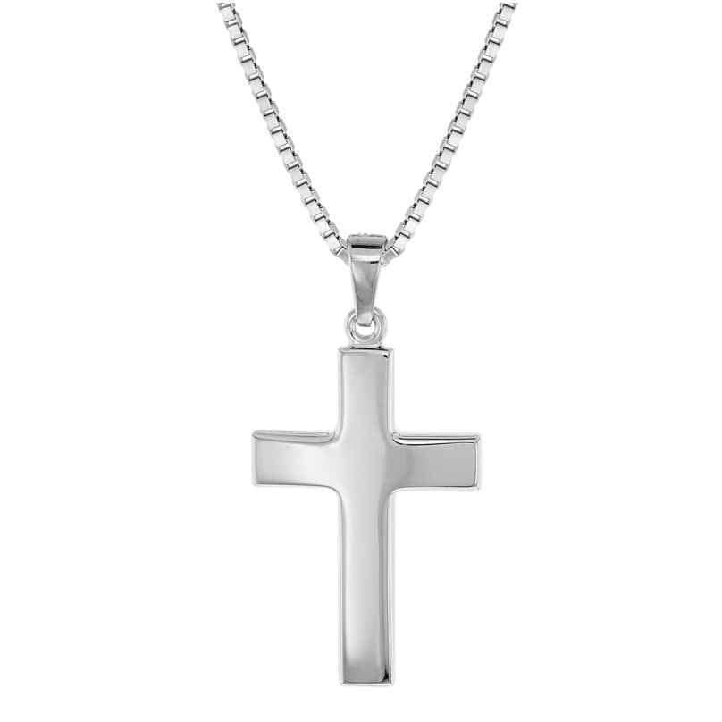 trendor 08474 Silver Cross Pendant Men's Necklace
