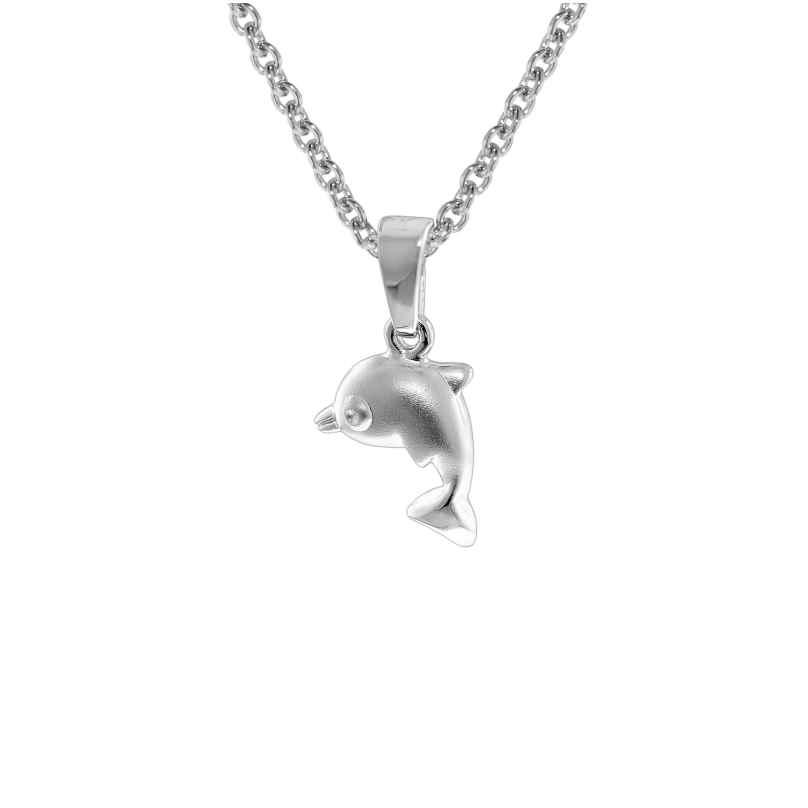 trendor 08473 Kinder-Halskette mit Delfin-Anhänger Sterlingsilber 925 4260497084730