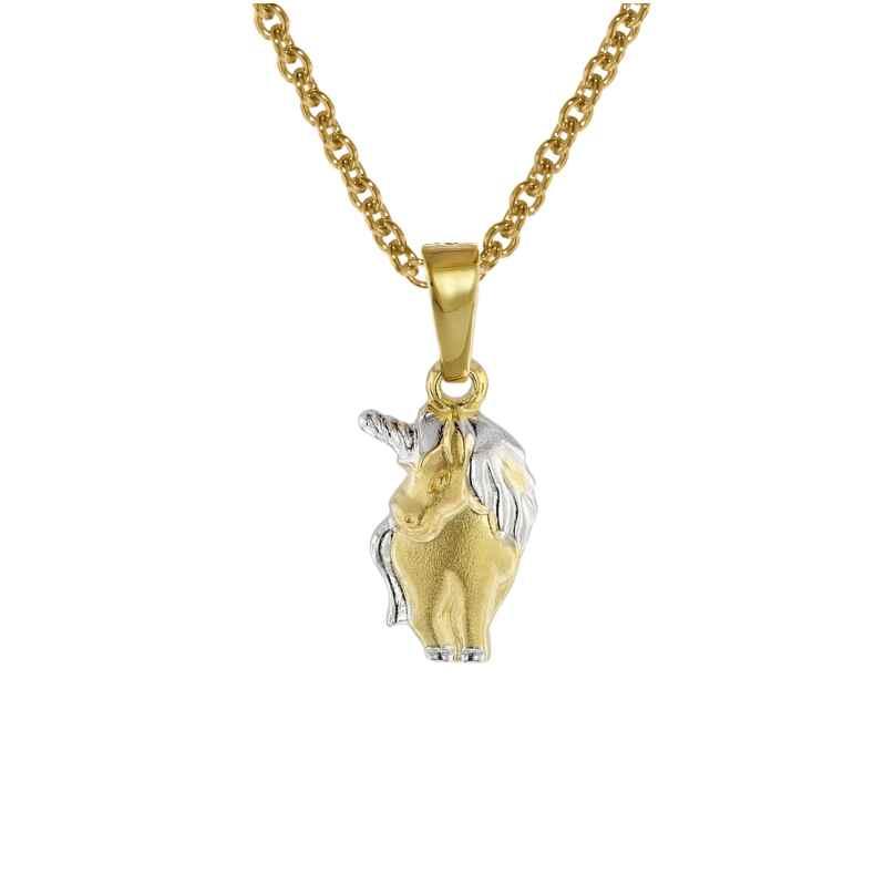 trendor 08552 Einhorn Anhänger an Kinder-Halskette Gold 333/8 Karat 4260497085522
