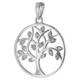 trendor 08540 Lebensbaum Anhänger mit Halskette 925 Silber