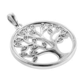 trendor 08548 Lebensbaum Anhänger mit Venezianer Kette 925 Silber