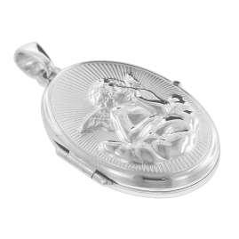 trendor 08529 Medaillon Amor mit Venezianer Kette Silber 925