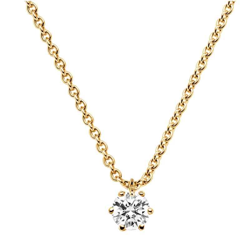 trendor 532655 Diamond Necklace 0.20 ct. Gold 585 4006025326558