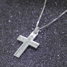 trendor 08803 Cross Pendant with Necklace Silver 925