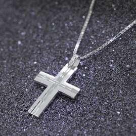 trendor 08803 Kreuz mit Halskette für Männer Silber 925