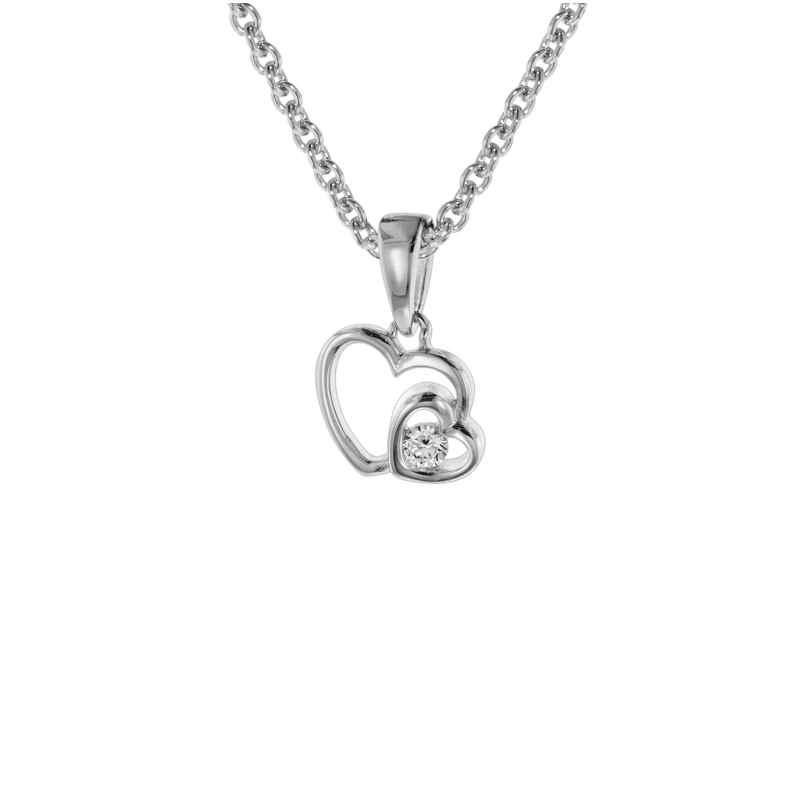trendor 08804 Anhänger Herzen mit Halskette für Mädchen Silber 925 4260497088042