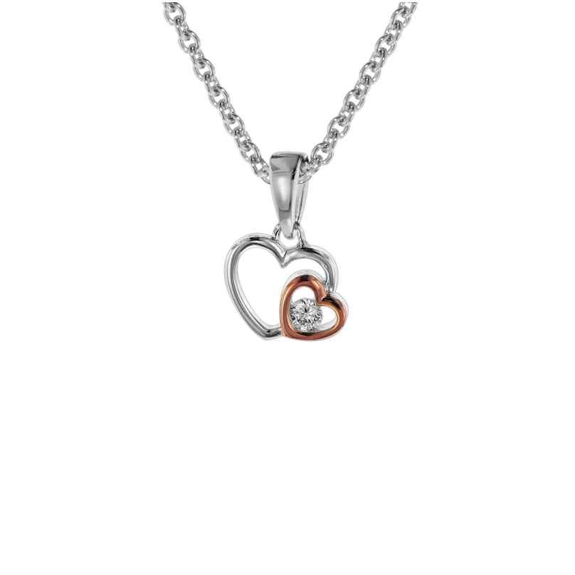trendor 08805 Halskette für Mädchen mit Herzen Anhänger Silber 925 4260497088059