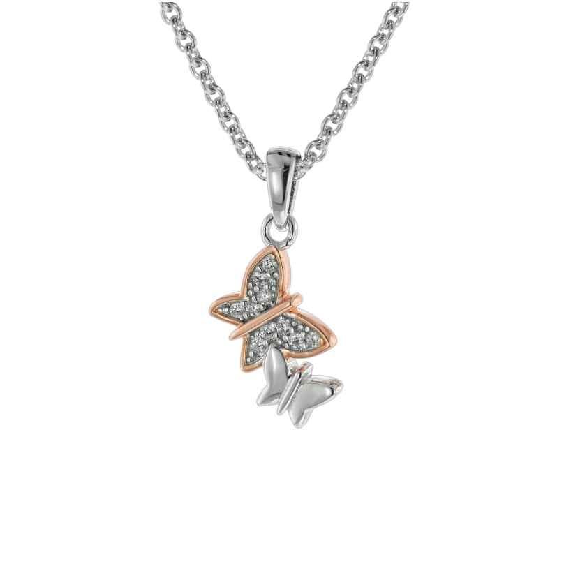 trendor 08806 Schmetterlinge Anhänger mit Mädchen-Halskette Silber 925 4260497088066