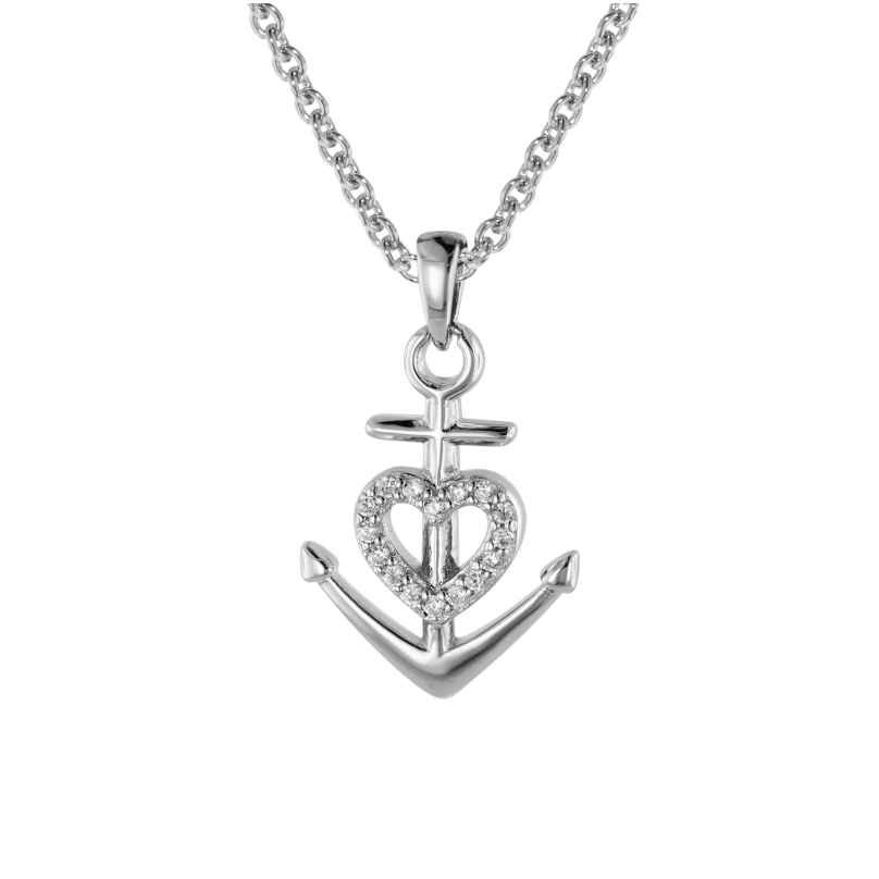 trendor 08813 Jewellery Set Faith Love Hope Silver 925 4260497088134