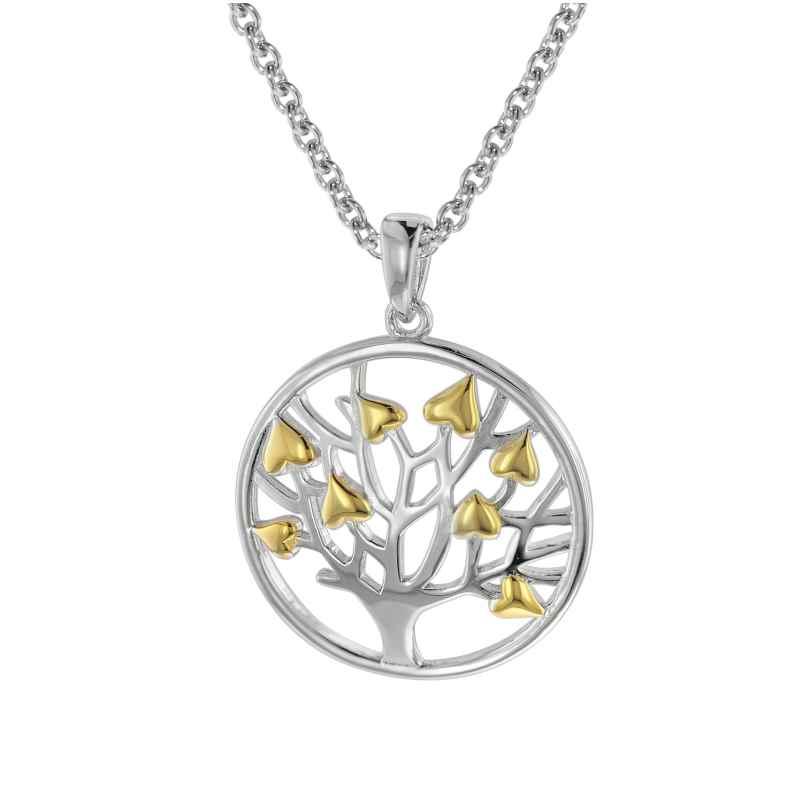 trendor 08816 Lebensbaum Anhänger mit Halskette in Damenlänge Silber 925 4260497088165