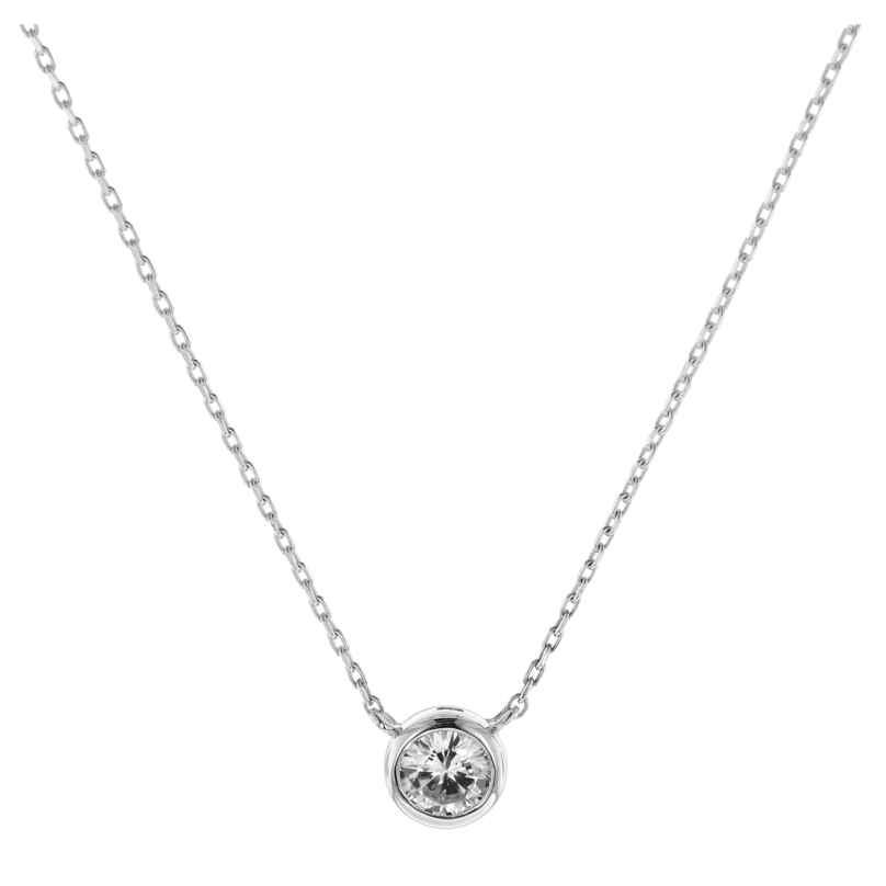 trendor 08854 Halskette Weißgold 585 Zirkonia 4260497088547