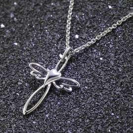 trendor 75009 Halskette mit Kreuz-Anhänger 925 Sterlingsilber