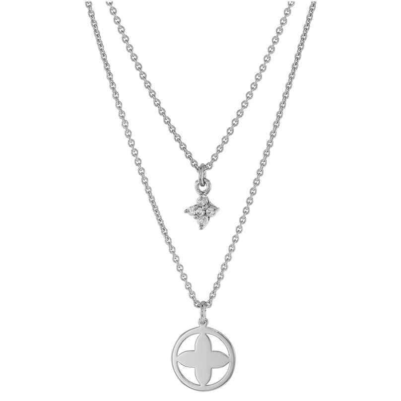trendor 75066 Necklace For Women 925 Sterling Silver Double Row 4260641750665