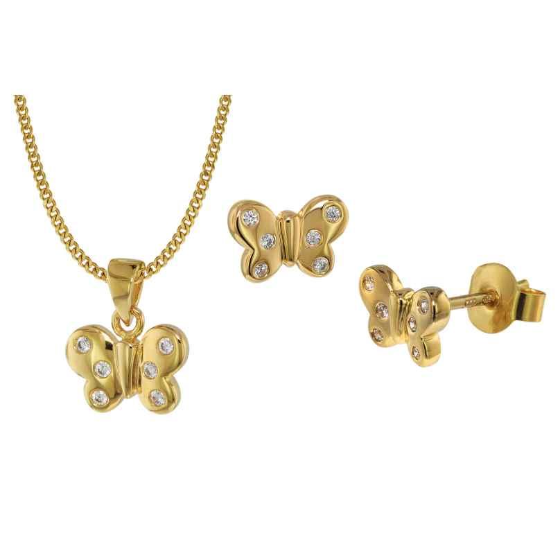trendor 75110 Schmetterling Schmuckset für Kinder Gold 333 (8 Karat) 4260641751105