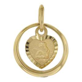 trendor 75120 Christening Ring Pendant Gold 585 on Gold Plated Necklace