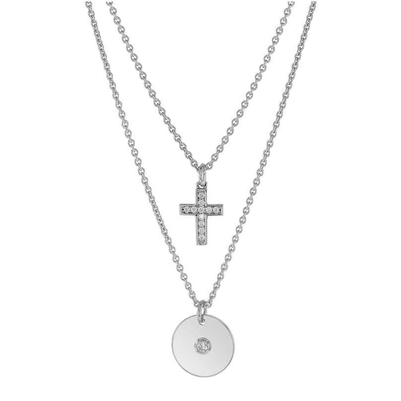 trendor 75230 Halskette für Junge Damen 925 Sterlingsilber 2-Reihig 4260641752300