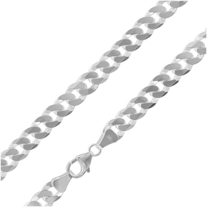 trendor 75232 Necklace for Men Silver 925 Curb Chain Width 7.8 mm 4260641752324