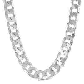 trendor 75232 Necklace for Men Silver 925 Curb Chain Width 7.8 mm