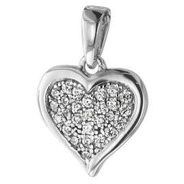 trendor 75262 Necklace for Young Women Silver 925 with Heart Pendant