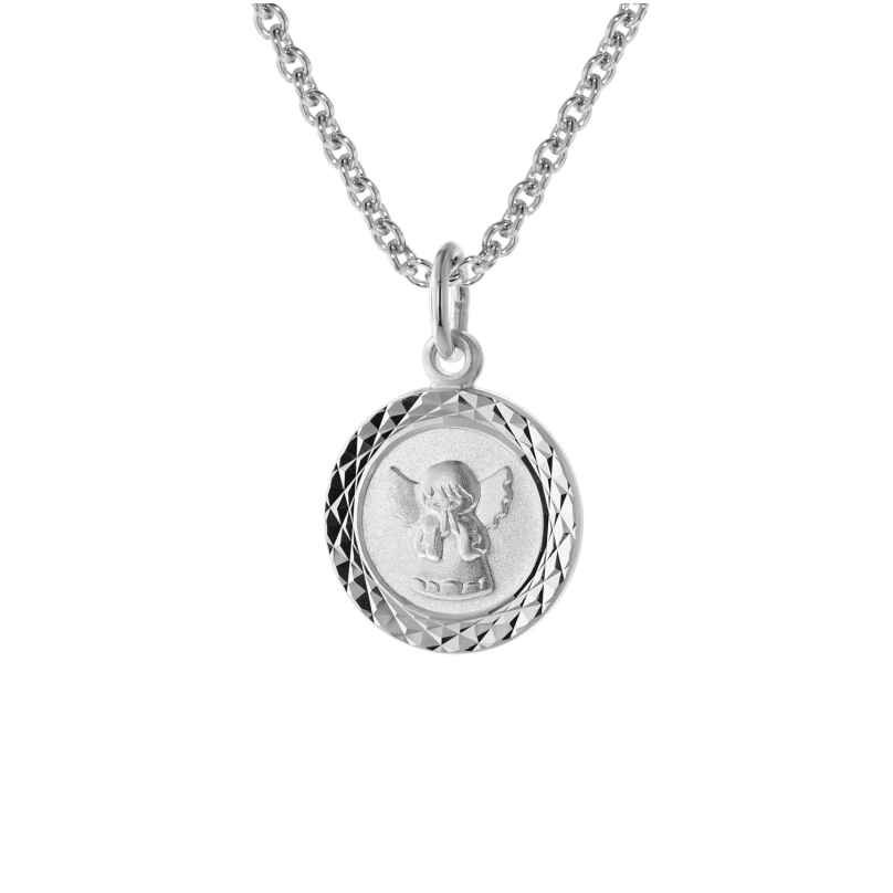 trendor 75328 Kids Angel Pendant White Gold 585 (14 ct.) with Silver Necklace 4260641753284