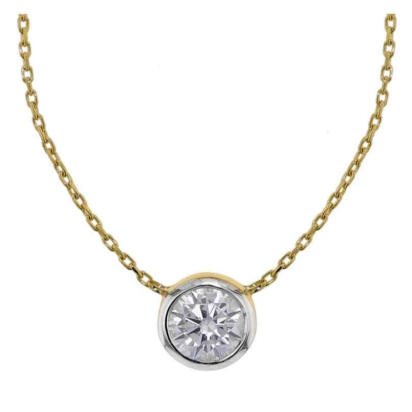 trendor 75347 Halskette mit Zirkonia-Anhänger Gold 585 / 14K 4260641753475