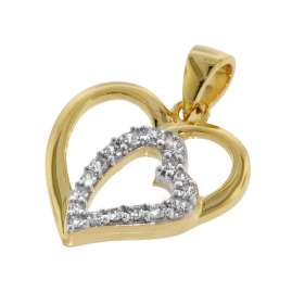 trendor 75406 Herz-Anhänger Gold 333 / 8 Karat mit plattierter Kette
