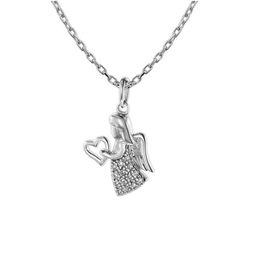 trendor 75471 Halskette mit Engel Weißgold 585 / 14K 4260641754717