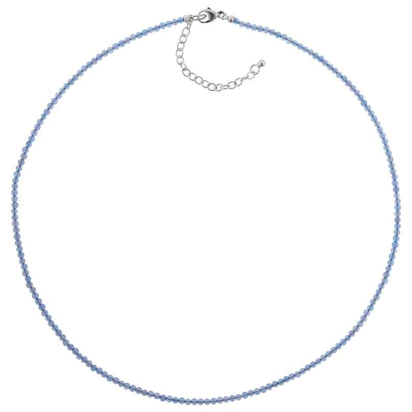 trendor 75479 Halskette für Damen Blauachat Ø 2,5 mm 4260641754793