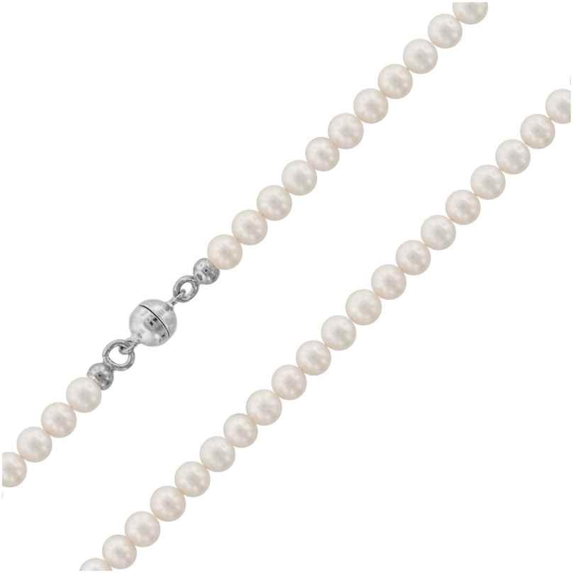 trendor 75484 Perlenkette Süßwasser-Zuchtperlen 4,5 mm 4260641754847